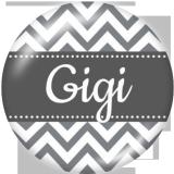 Boutons pression 20 mm en métal peint Famille GIGI MOM Imprimer