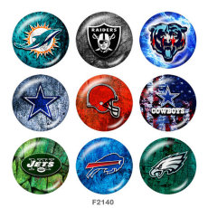 Painted 20MM metal snap buttons Team Sport