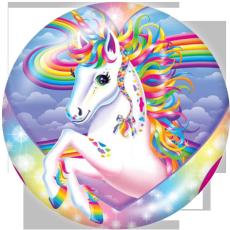 Botones a presión de metal pintado de 20 mm Estampado de unicornio