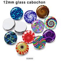 10 pcs/lot produit d'impression d'image en verre de couleur de modèle de différentes tailles cabochon d'aimant de réfrigérateur