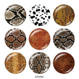 Painted metal 20mm snap buttons  Serpentine  Print