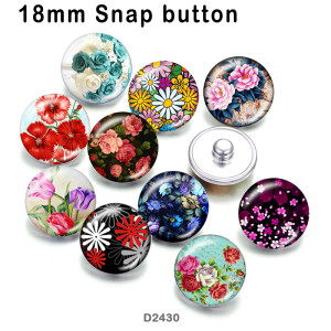10pcs/lot   Flower   glass picture printing products of various sizes  Fridge magnet cabochon