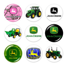 Painted metal 20mm snap buttons  truck Print