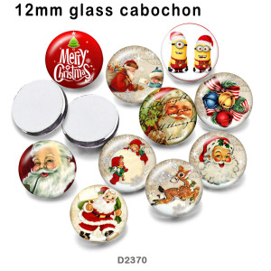 10pcs/lot  hristmas  glass  picture printing products of various sizes  Fridge magnet cabochon
