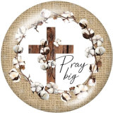 Painted metal 20mm snap buttons  faith