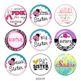 Painted metal 20mm snap buttons  sisters