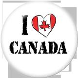Boutons pression 20 mm en métal peint Canada Print