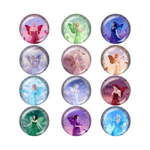 Окрашенные металлические кнопки с кнопками 20 мм Камень рождения 12 созвездий с кнопками снизу