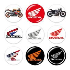 Окрашенные металлические кнопки 20мм Мотоцикл Авто Логотипы Печать