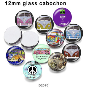 10pcs/lot  Car  BUS  glass  picture printing products of various sizes  Fridge magnet cabochon
