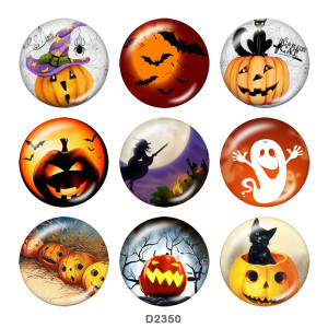 Botones a presión de metal pintado de 20 mm Halloween
