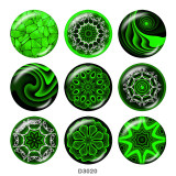 Painted metal 20mm snap buttons  decorative pattern Print