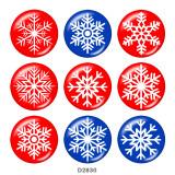 塗装済みメタル 20mm スナップボタン クリスマス
