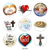 Painted metal 20mm snap buttons  love
