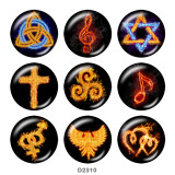 Painted metal 20mm snap buttons  Symbol