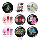 Painted metal 20mm snap buttons   happy easter  Print
