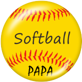 Painted metal 20mm snap buttons  Baseball family Print