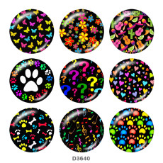 Painted metal 20mm snap buttons  Colorful Print