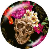 Boutons pression 20 mm en métal peint tête de mort Imprimer