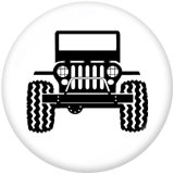 Painted metal 20mm snap buttons  Jeep Print