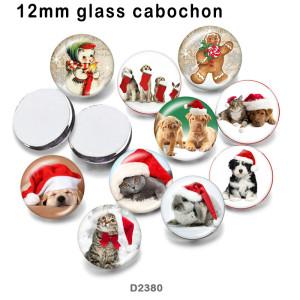 10 pcs/lot produits d'impression d'image en verre de chat hristmas de différentes tailles cabochon d'aimant de réfrigérateur