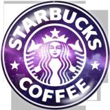 Boutons pression 20 mm en métal peint Starbucks Print