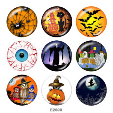 Painted metal 20mm snap buttons   Halloween  Print