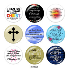 Painted metal 20mm snap buttons  christ Print