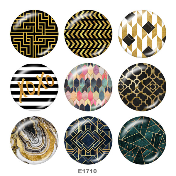 Painted metal 20mm snap buttons  design Print