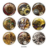 Painted metal 20mm snap buttons  Clock