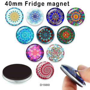 10pcs/lot  pattern  glass  picture printing products of various sizes  Fridge magnet cabochon