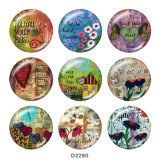 Painted metal 20mm snap buttons  hope