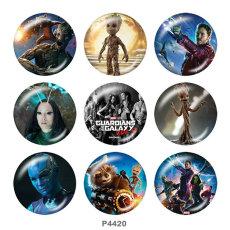 Окрашенные металлические кнопки 20мм Marvel