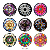Painted metal 20mm snap buttons  decorative pattern