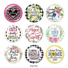 Painted metal 20mm snap buttons  family Print