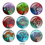 Druckknöpfe aus lackiertem Metall 20 mm Baum des Lebens Druck