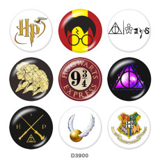 Painted metal 20mm snap buttons  Harry Potter   Print