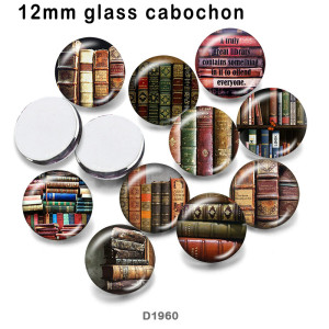 10pcs/lot  book  glass  picture printing products of various sizes  Fridge magnet cabochon
