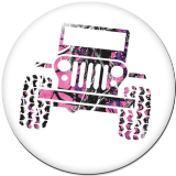 Painted metal 20mm snap buttons  car Jeep Print