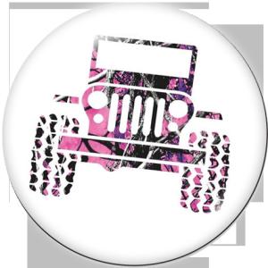 Métal peint 20mm boutons pression voiture Jeep Print
