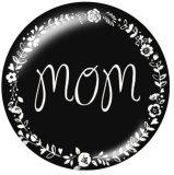 Boutons pression en métal peint 20 mm maman espère famille Imprimer