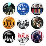 20 mm Druckknöpfe aus lackiertem Metall Beatles