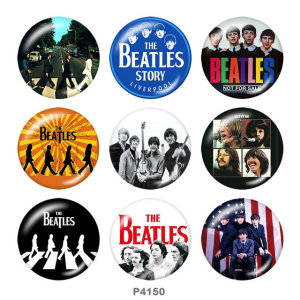 Botones a presión de metal pintado de 20 mm Beatles