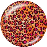Painted metal 20mm snap buttons  Leopard Print Print
