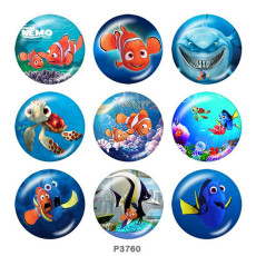 Painted metal 20mm snap buttons  Finding Nemo Print