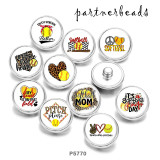 Painted metal 20mm snap buttons  softball MOM  Print