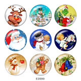 Painted metal 20mm snap buttons   Santa Claus  Print