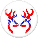 Boutons pression 20 mm en métal peint Elk Print