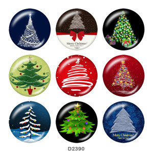 Botones a presión de 20mm de metal pintado Navidad