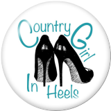 Boutons pression métal peint 20mm country girl Imprimer